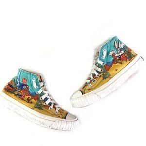 Vintage Ked's Looney Tunes high top sneakers sz 6